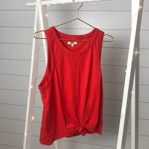 Madewell red tank top